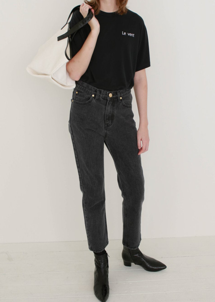 [Kor] Black Wash Denim Pants