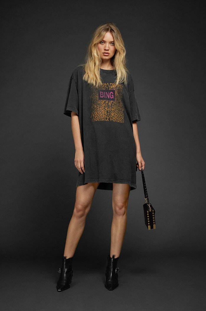[Anine bing] HARLEY TEE DRESS - CHARCOAL 바로배송세일!!