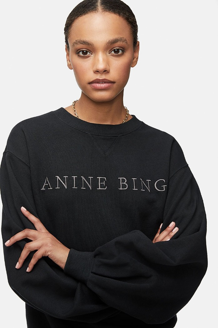 [aninebing]19 FW ESME SWEATSHIRT IN WASHED BLACK 2차재입고 바로배송