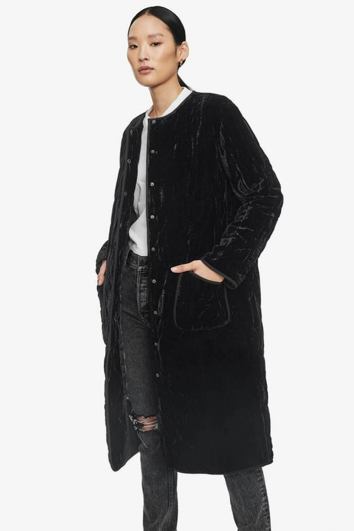 [Aine bing]19 FW ELSA VELVET JACKET IN BLACK
