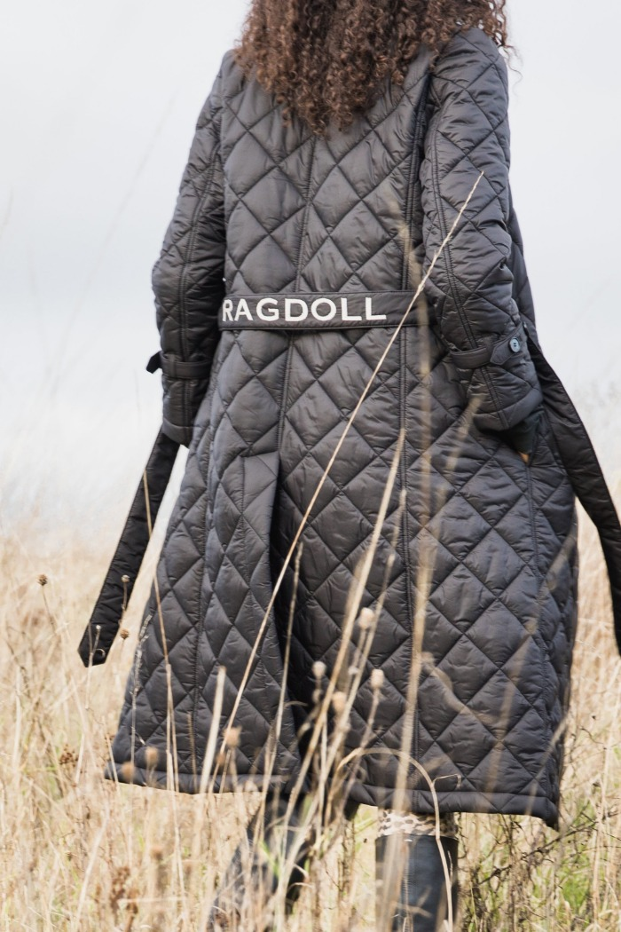 [Ragdoll-la] PADDED TRENCH Black 바로배송