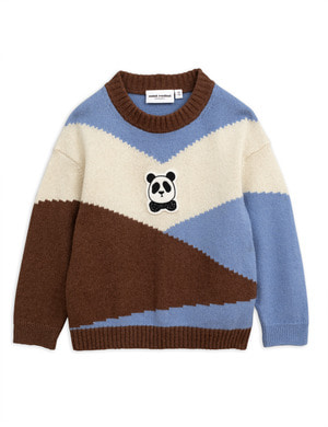 [Mini Rodini] 미니로디니 AW18 Panda knitted wool pullover - Brown