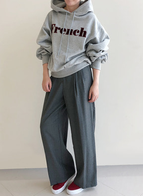 [KOR] Wool Grey Wide Pants