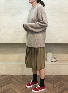 [KOR] Wool Sweater Multi Ash Green