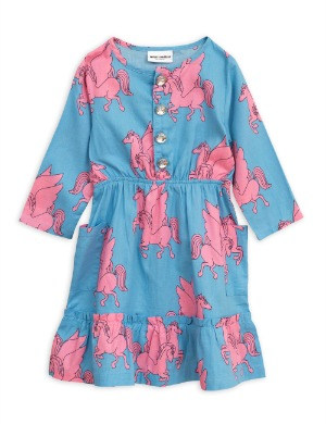 [Mini Rodini] 미니로디니 정품 Pre Spring Pegasus flounce dress / Blue 2주배송