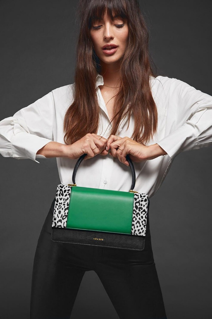 [Anine bing] CECILIA BAG IN LEO AND GREEN 바로배송 세일!!