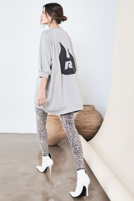 [Ragdoll-la]SUPER OVERSIZED SWEATSHIRT Light Grey 바로배송