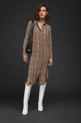 [Anine bing]CHELSEA SHIRT DRESS - PYTHON
