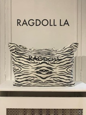 [Ragdoll-la]RAGDOLL HOLIDAY BAG White Zebra