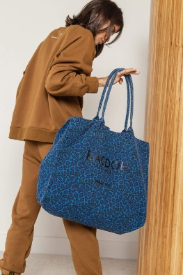 [Anine bing] 19 FW RAGDOLL HOLIDAY BAG Electric Blue Leopard
