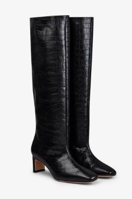 [anine bing]FELICIA BOOTS IN BLACK CROC