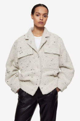 [ANINE BIN] LEON JACKET IN WHITE TWEED