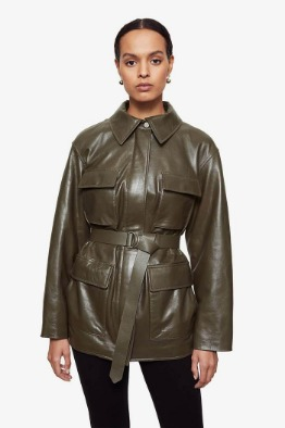 [ANINE BIN] MONROE JACKET IN DARK GREEN
